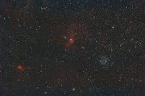 Buborék régió és M52