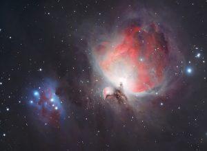 Orion-köd és a futó ember